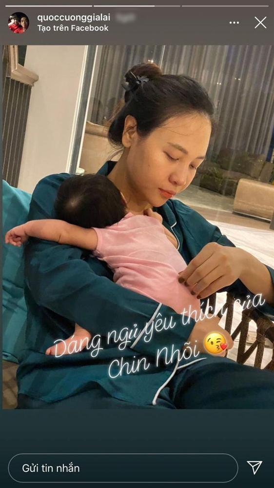 Cuong Do La vo tinh lam lo mat moc Dam Thu Trang sau sinh
