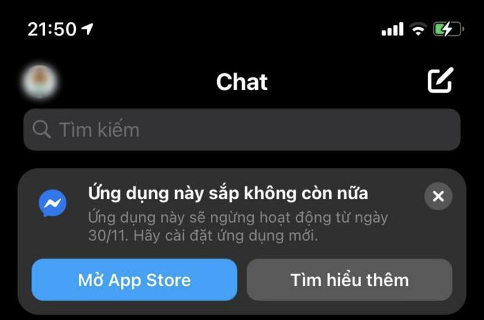 Messenger Lite se dung hoat dong tu 30/11 tren iOS