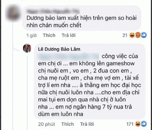Le Duong Bao Lam bi lo chuyen no ngan hang 7 ty dong