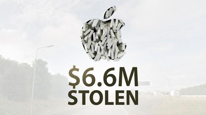 Xe cho hang cua Apple cung bi cuop voi thiet hai len den 6 trieu USD