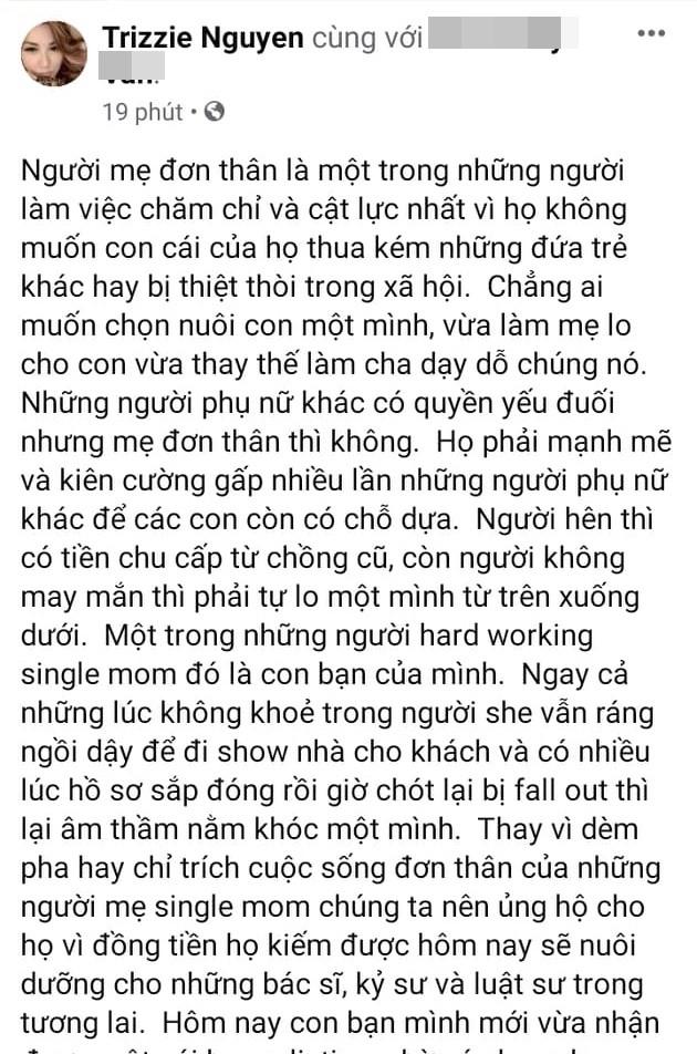 Trizzie Phuong Trinh noi ve kho khan cua me don than-Hinh-2