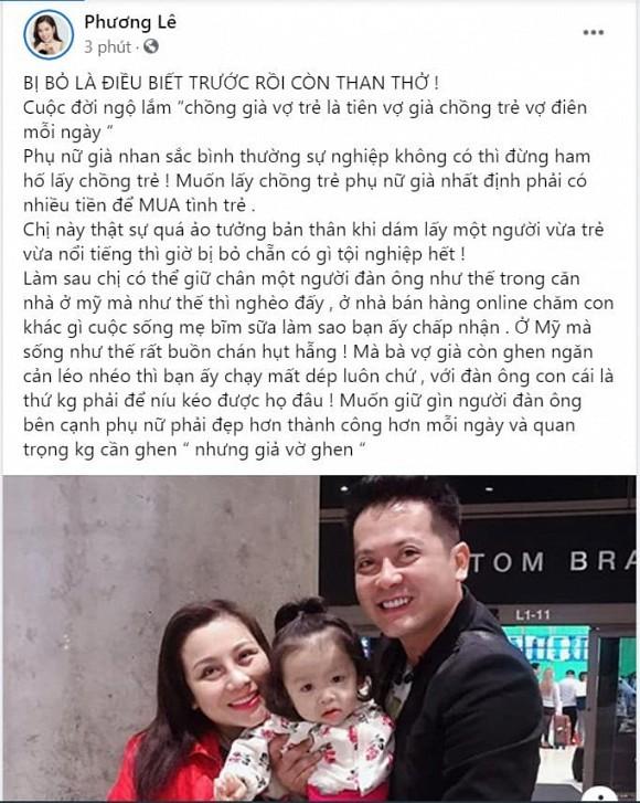 Hoa hau Phuong Le chi ra su that vo Hoang Anh qua ao tuong ban than