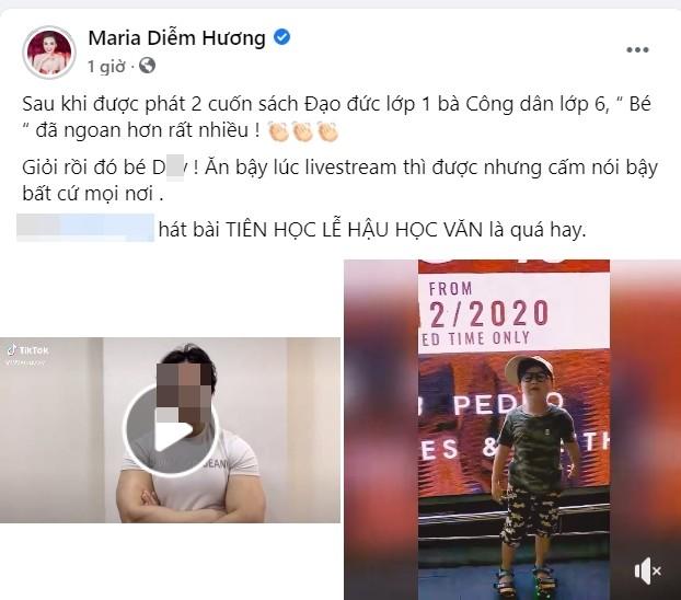 Diem Huong phan ung gat khi bi to lay phot gymer tang boc con