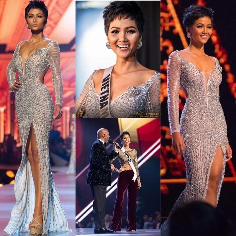 Sau ngoi vi Top 5 Miss Universe, Hoa hau H'Hen Nie gio the nao?