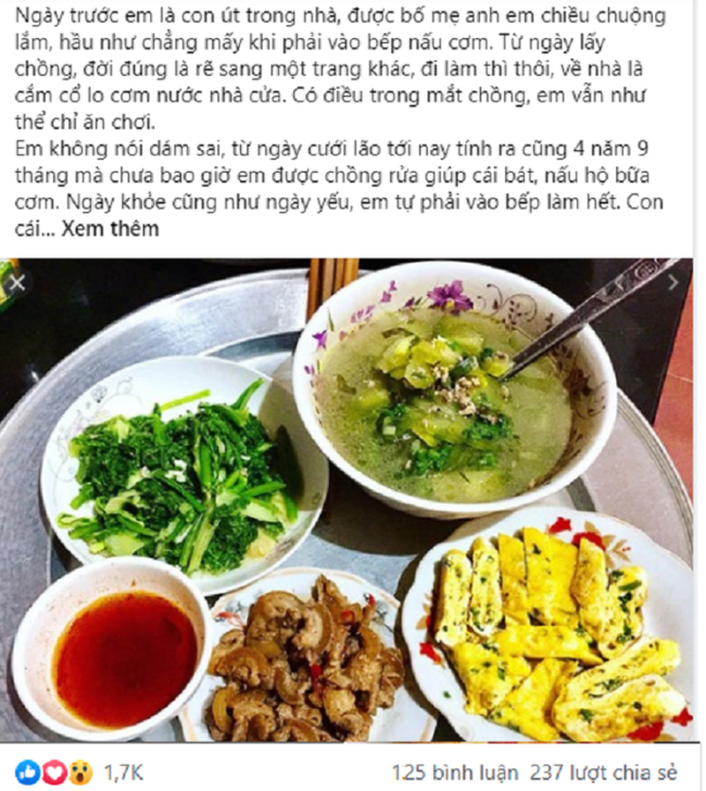 Com canh chu dao van bi chong che khong nau duoc bua nen hon