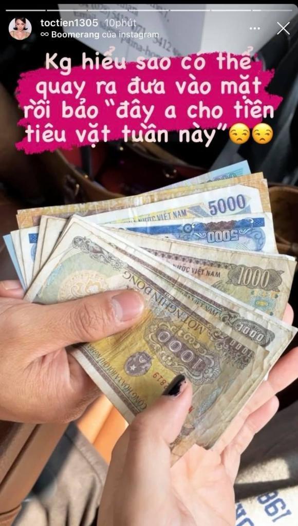Toc Tien khoe duoc Hoang Touliver cho tien tieu vat trong tuan
