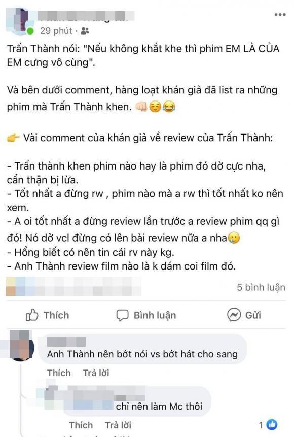MC Tran Thanh bi cu dan mang nhac nho dung review phim nua-Hinh-6