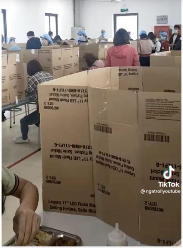 Cong ty o Hai Duong lay bia carton ngan chan COVID-19-Hinh-2