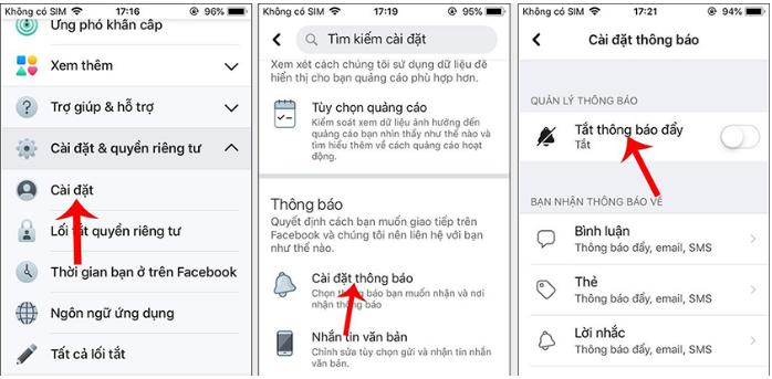 Meo tat thong bao cua Facebook tren dien thoai nhanh nhat