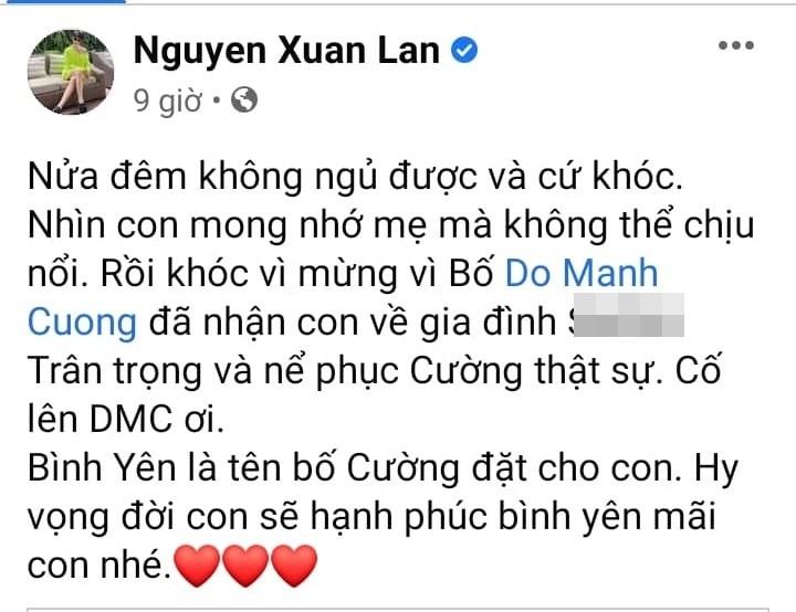 Xuan Lan bi moc mia vi khoc thuong con nuoi Do Manh Cuong-Hinh-2