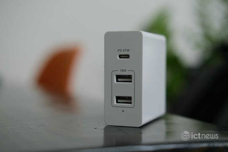Cục sạc đa năng cho laptop và smartphone, công suất 65W