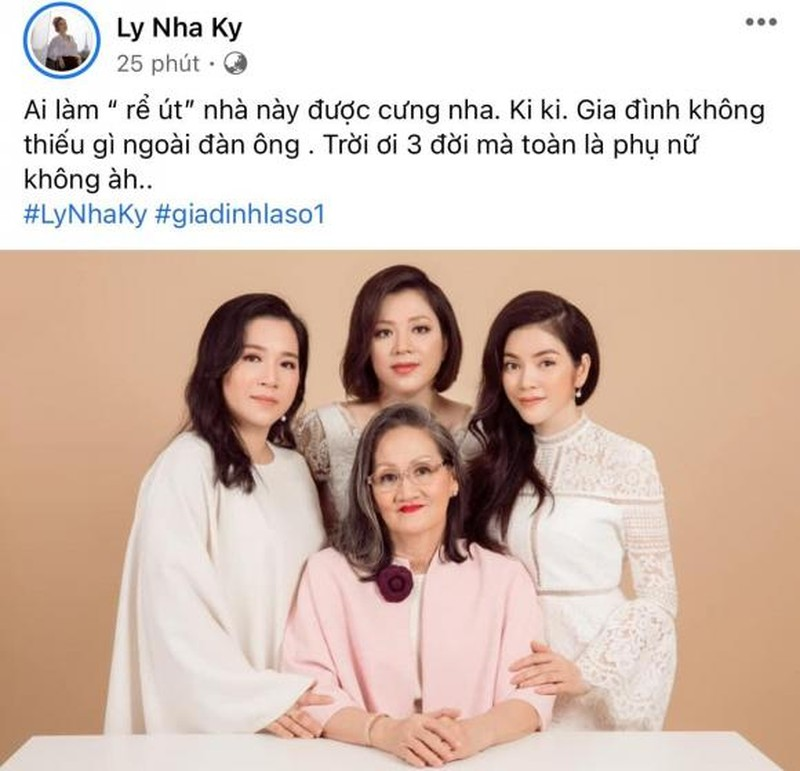 Ly Nha Ky khoe anh dai gia dinh toan my nhan