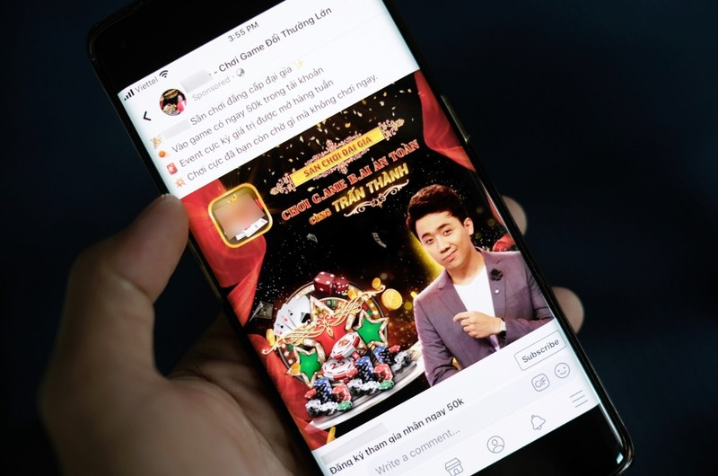 Tran Thanh, Lan Ngoc tung bi ghep quang cao lua dao khap Facebook-Hinh-2