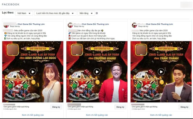 Tran Thanh, Lan Ngoc tung bi ghep quang cao lua dao khap Facebook-Hinh-3