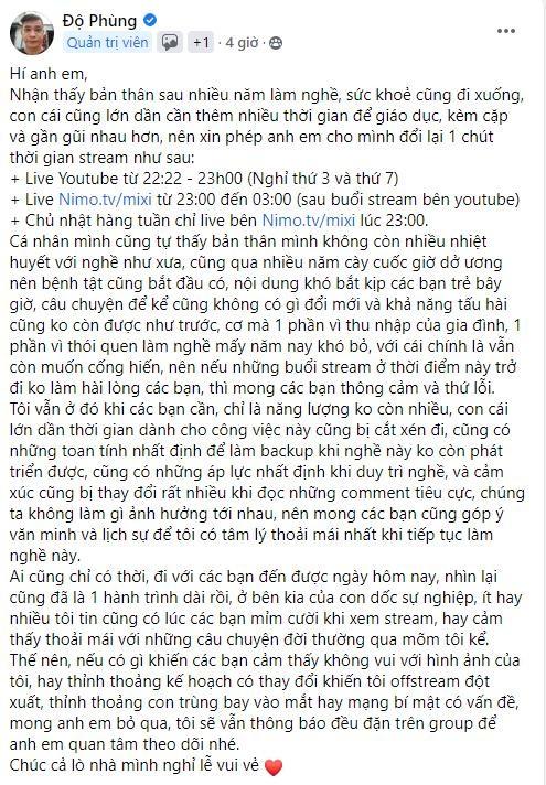 Do Mixi bat ngo thua nhan livestream chi vi com ao gao tien
