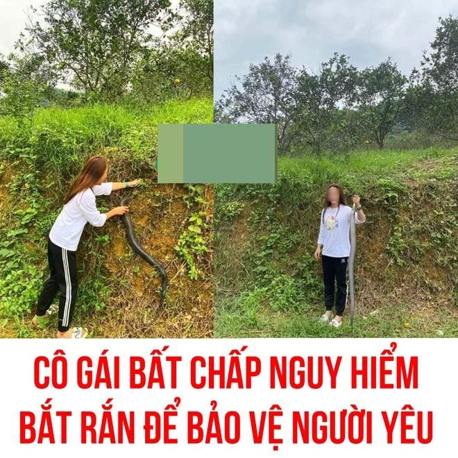 Gai xinh Nghe An tay khong bat ran ho mang-Hinh-2