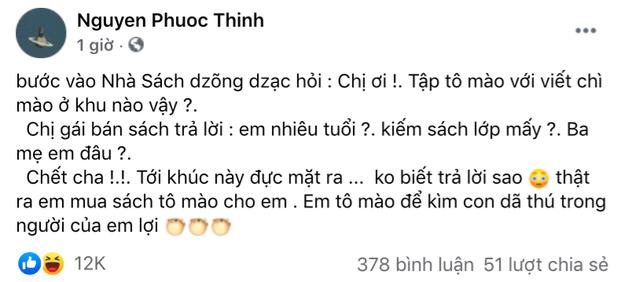 Noo Phuoc Thinh bi fan nhac vi viet 7 dong ma sai chinh ta 6 lan
