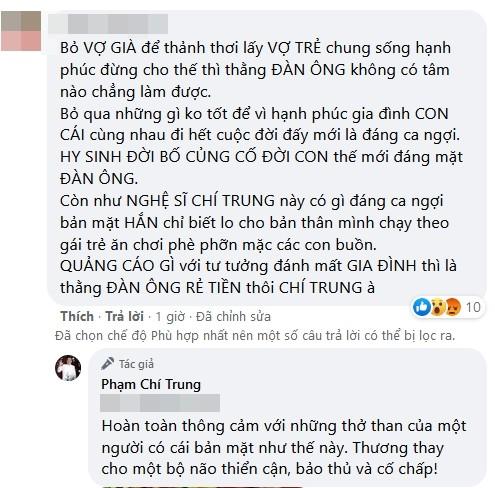 Chi Trung gay gat khi bi moc mia