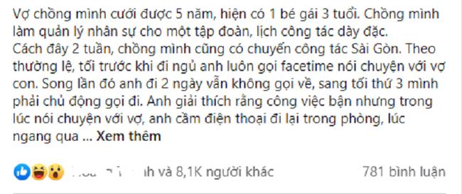 Biet chuyen cong tac cua chong co dieu mo am, vo van vui ve!
