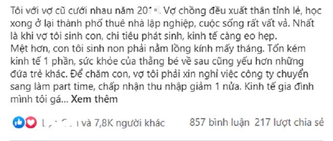 Chong ly hon de doi doi, sau 4 nam choang voi than phan cua vo cu