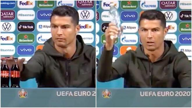 Ronaldo gat tay mot cai, Coca-Cola bay mau 4 ty USD