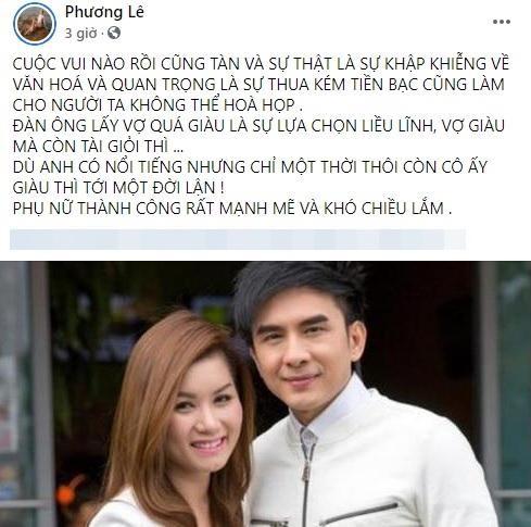 Vo chong Dan Truong ly hon, hoa hau Phuong Le dua ly do soc-Hinh-2