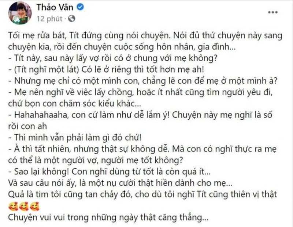 Con trai MC Thao Van khuyen me nen nghi den viec lay chong-Hinh-3