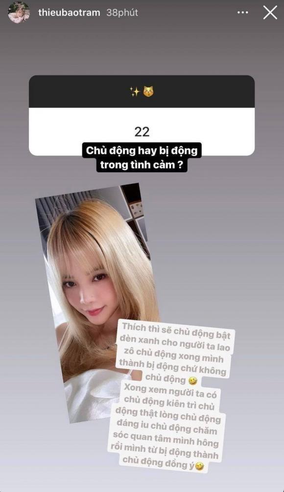 Thieu Bao Tram chia se ve chuyen tinh yeu sau lien hoan drama tinh ai