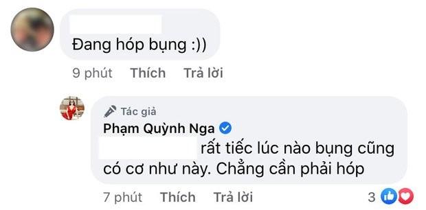Khoe kheo co bung nhung bi nghi hop bung, Quynh Nga dap tra day kheo leo-Hinh-2