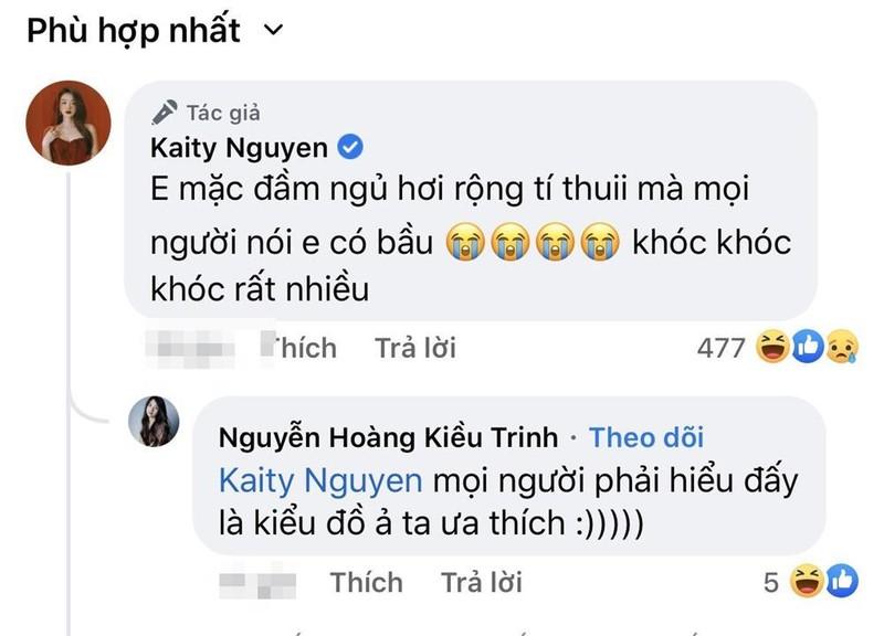 Dien vay lum lum, Kaity Nguyen bi nghi mang bau bi mat-Hinh-7