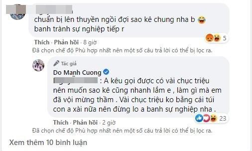 Len tieng vu Thuy Tien, Do Manh Cuong bi doa
