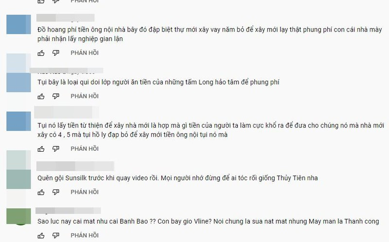 Han SAO KE, Thuy Tien bi antifan phan no