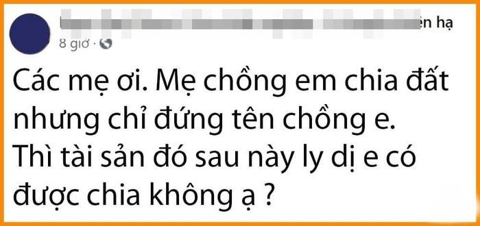 Nang dau thac mac dat chong duoc me cho lieu co duoc huong khi ly hon