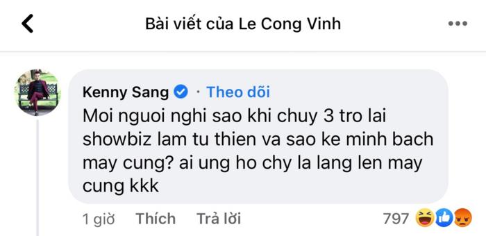 Kenny Sang bat ngo co phat ngon gay chu y va muon tro lai showbiz-Hinh-2