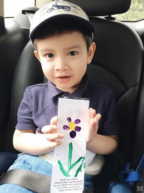 Con trai MC Quynh Chi va chong cu dai gia banh bao tuoi len 9