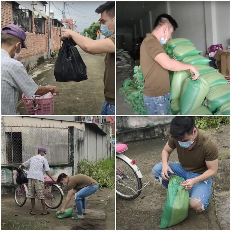 Le Duong Bao Lam co hanh dong am long khi hai cu gia den nha xin do-Hinh-2
