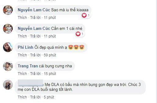 Diep Lam Anh khoe bung bau vuot mat sau 6 thang sinh con gai