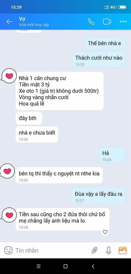 Toat mo hoi doc danh sach thach cuoi, chang trai tho dai: 'Tien dau cuoi vo?'