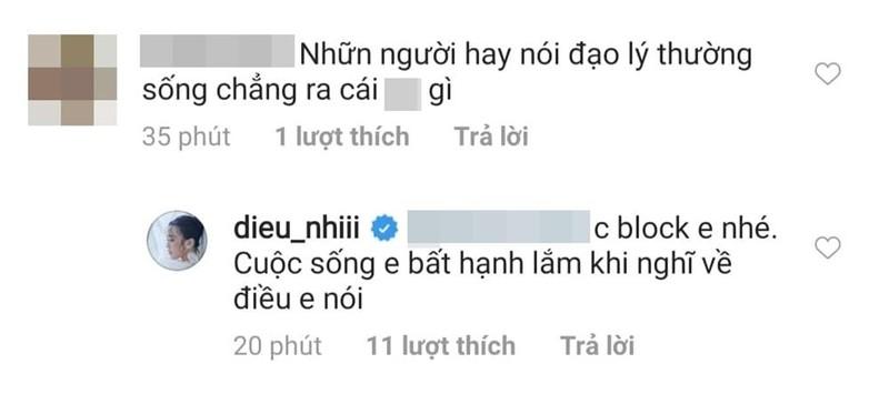 Bi chi trich vi dua muon om chong Dong Nhi, Dieu Nhi thang tay block anti-fan-Hinh-5