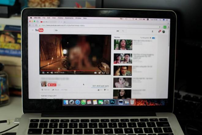 YouTube Viet Nam tran ngap video 18+, nghi bi loi bo loc