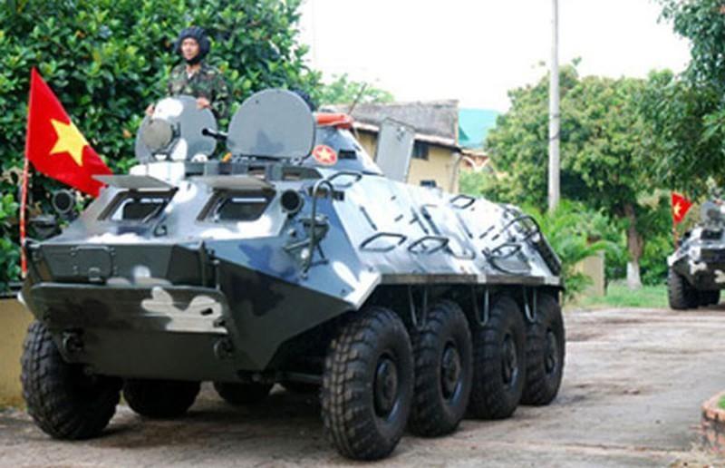 Xe boc thep BTR-60 Viet Nam boi cuc dinh, phoi hop hiep dong tot voi tau do bo-Hinh-4