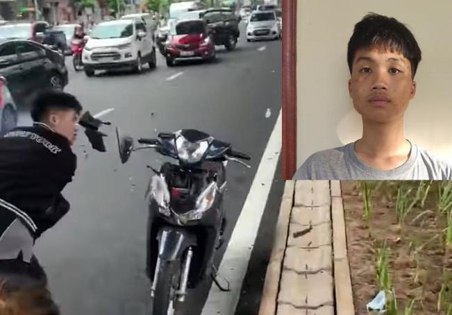 Thanh nien dap pha xe may sau va cham o Ha Noi: Vi thanh nien co thoat an?