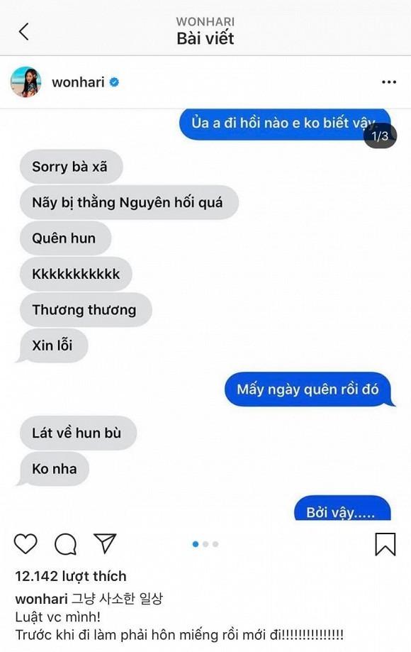Hari Won tiet lo quy tac bat di bat dich voi Tran Thanh
