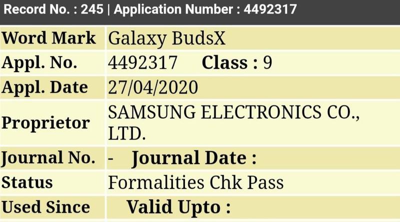 Tai nghe hinh hat dau cua Samsung se co ten goi chinh thuc la Galaxy BudsX
