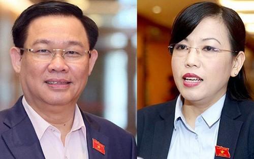 TTK Quoc hoi noi ve viec mien nhiem ong Vuong Dinh Hue, ba Nguyen Thanh Hai