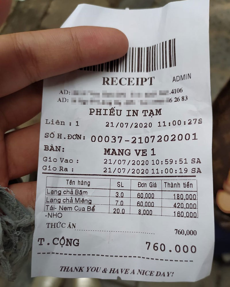 Dan mang tranh cai ve quan bun noi tieng Ha Noi 600 nghin/kg cha mieng