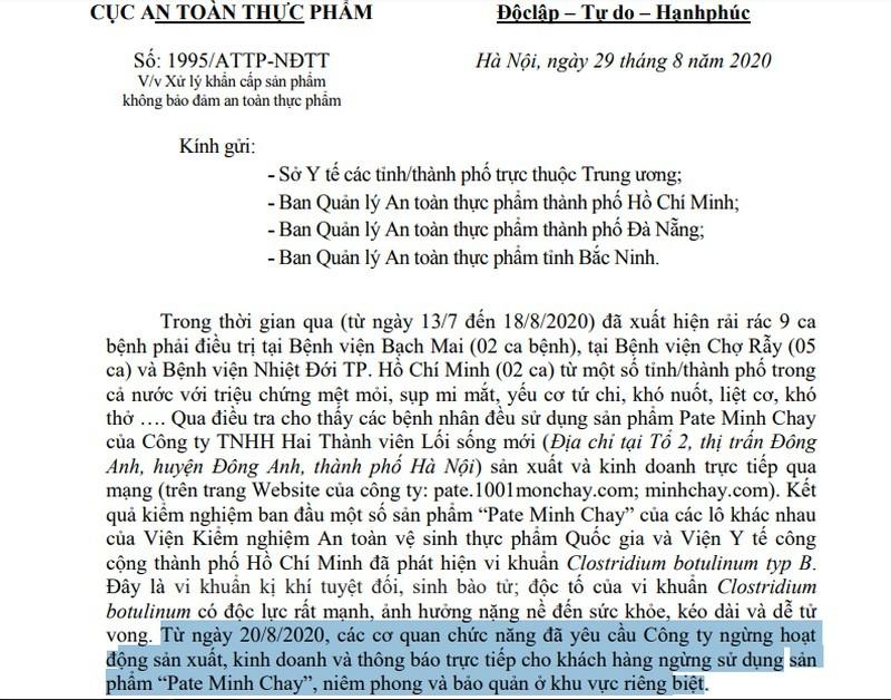 Yeu cau ngung tu 20/8, pate Minh Chay van san xuat den 28/8?-Hinh-2