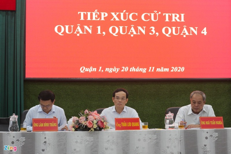 Ong Tran Luu Quang: Xin loi ba con cu tri