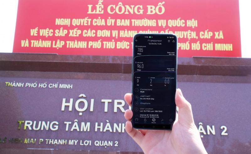 VinaPhone phat song 5G tai Thanh pho Thu Duc