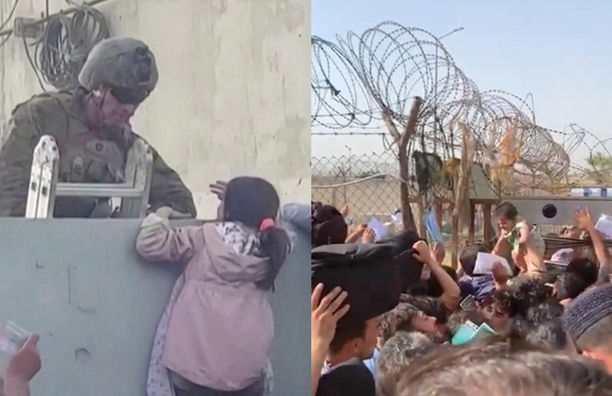 Afghanistan: Tre em duoc chuyen qua rao kem gai o san bay Kabul-Hinh-3